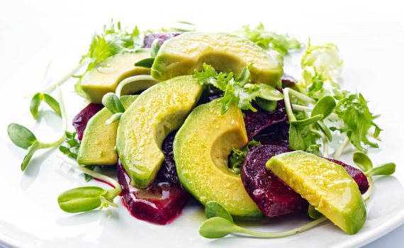 avocado and beetroot